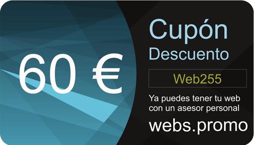 Cupon descuento diseño paginas web baratas